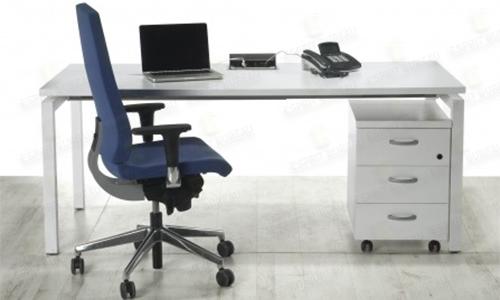Bureau opérateur piètement métallique gris ou blanc ESPRIT BUREAU