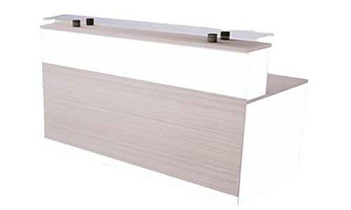 Comptoir de réception en bois