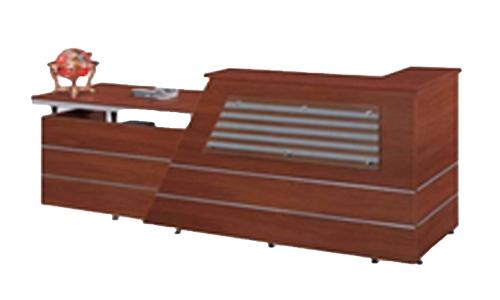 Comptoir de réception pour 2 personnes en bois