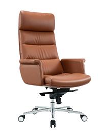 Fauteuil et chaise président en cuir