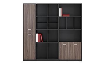 Bibliothèque de rangement en bois