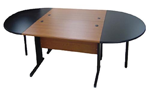 Table de réunion en bois melaminé pour 8 à 10 personnes