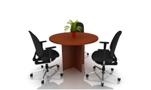 Table de  réunion ronde en bois