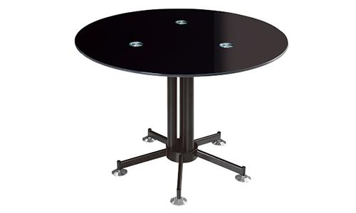 Table de réunion ronde en verre